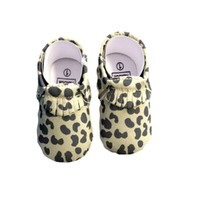 Baby Leather Moccasins, Leopard