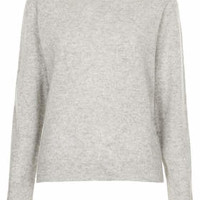 KNITTED CASHMERE POLO JUMPER