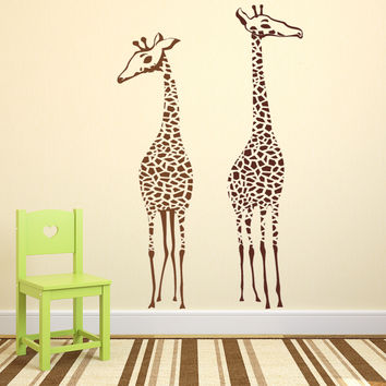 Tall Giraffes for Nursery, Playroom, Kids room Vinyl Wall Decal Sticker Art
