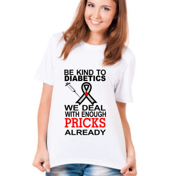 Diabetes Shirt, Diabetes Awareness, Type 1 Diabetic Shirt, Medical Alert T Shirt, Diabetic Tee Shirt, Gift for Diabetic, Graphic T-shirt