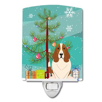 Merry Christmas Tree Basset Hound Ceramic Night Light BB4146CNL