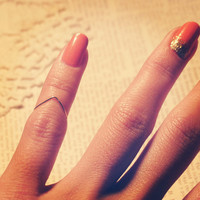 Delicate single layer bent chevron style gold knuckle ring wire band