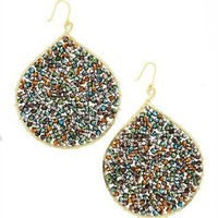 CUSP | Accessories | Jewelry | All Jewelry | Multicolor Beaded Teardrop Earrings (Stylist Pick!)