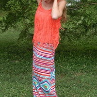 Rain Dance Maxi Skirt: Multi