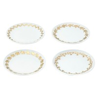 Lilly Pulitzer for Target Porcelain Dessert Plates with 18kt Gold Embossed Rim - Set of 4
