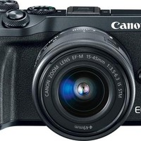 Canon - EOS M6 Mirrorless Camera with EF-M 15-45mm f/3.5-6.3 IS STM Zoom Lens - Black