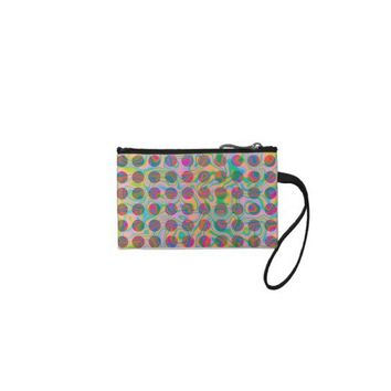 Hippy Fractal Pattern Purple Turquoise & Yellow Coin Wallet from Zazzle.com