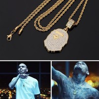 """BAPE"" New Arrival Stylish Gift Shiny Jewelry Hip-hop Pendant Necklace [10233704135]"