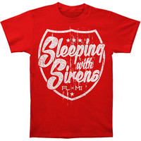 Sleeping With Sirens Men's  Badge T-shirt Red
