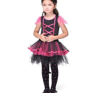 MOONIGHT The Devil Halloween Costumes Dress Stage Performance Cosplay Child Costumes Tutu Dress Carnival Party Outfit