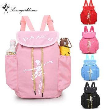 Child Kids Pink ballet bag Backpack Waterproof canvas Ballet Dance Bags Pink Ballerina Ballet GiftAS8658