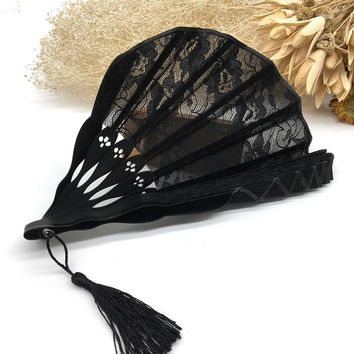 Shipping Quality Tassel Chinese Vintage Style Fabric Black Dancing Party Dancing Props