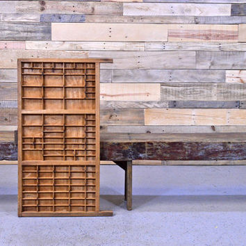 Vintage Printers Drawer, Wooden Printers Tray, Hamilton Printer Drawer, Printers Drawer Coffee Table