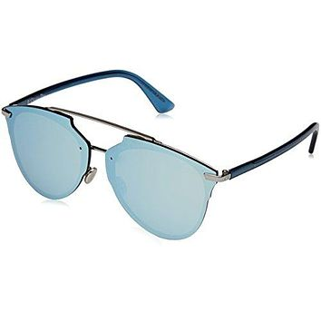Christian Dior ReflectedP/S S62/RQ Ruthenium/Blue Crystal Sunglasses 63mm