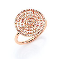 Astley Clarke - Icon Aura Grey Diamond & 14K Rose Gold Ring - Saks Fifth Avenue Mobile