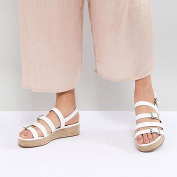 ASOS DESIGN Telson Multi Buckle Flatforms at asos.com