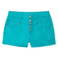 Aeropostale  Womens High-Waisted Color Wash Denim Shorty Shorts