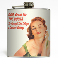 God, Grant Me The Vodka - Funny Flask