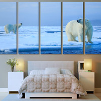 Polar Bear Wall Art / Bear Print / Animal Art / Woodland Animal Wall Art For Home Wildlife Print Bear Photography Canvas Art Animal Artwork