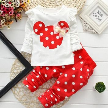 Autumn Baby Grils Clothing Baby Girls Cotton Suits Children Clothing Sets Cat Girls Clothes 6M-24M