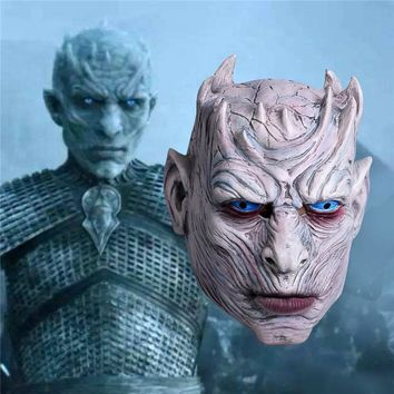 New Game of Thrones Cosplay Night's King Mask Walker Face Night Re Zombie Mask Halloween Adults Throne Costume Party Accessory