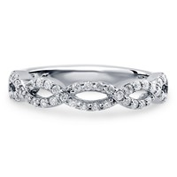 Sterling Silver Cubic Zirconia CZ Woven Eternity Band Ring 0.38 ct.twBe the first to write a reviewSKU# R961-B