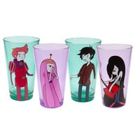 Adventure Time - Gender Swap Characters Pint Glasses 4 Pack Set