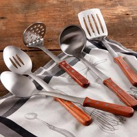 The Pioneer Woman Cowboy Rustic Kitchen Essentials 5-Piece Tool Set with Rosewood Handle - Walmart.com