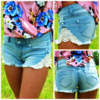 Slice of Summer Lace Cut Off Shorts