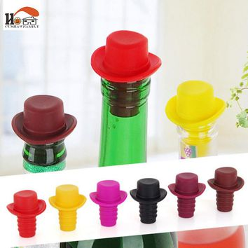CUSHAWFAMILY Nordic kitchen&Bar Tools Wine Silicone Stoppers Preservation Beer Lid Beverage Closures seasoning Bottle Stoppers