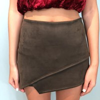 Staple Faux Suede Skort