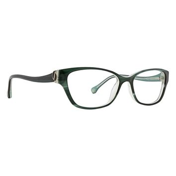Trina Turk - Leighton 52mm Evergreen Eyeglasses / Demo Lenses