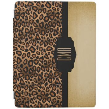 Brown and Black Leopard Animal Print iPad Cover