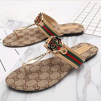 GUCCI Woman Men Fashion Beach Slipper Sandals Shoes
