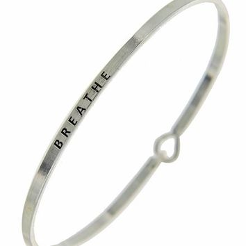 BREATHE Message Bracelet
