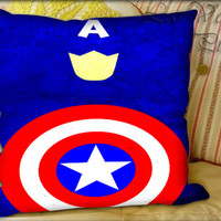 Simple Captain American - Pillow Cover and Pillow Case.