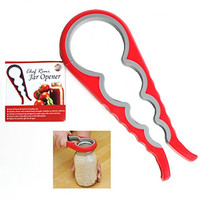 Chef Remi Jar Opener - Lifetime Replacement Warranty - Rated No.1 Kitchen Grippers To Remove Stubborn Lids, Caps and Bottles - Designed For Small Hands, Seniors or Anyone Who Suffers From Arthritis