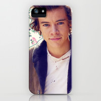 Harry Styles; Floral iPhone & iPod Case by Valerie Hoffmann
