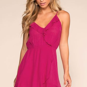Seaside Rush Wrap Dress - Rose