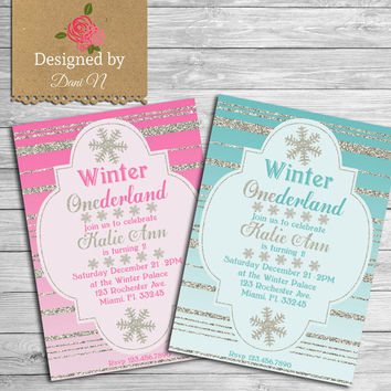 best winter onederland birthday invitation products on wanelo, Party invitations
