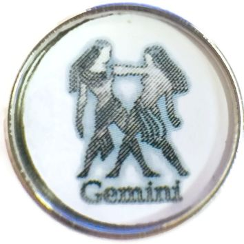 Gemini The Twins Art Zodiac Sign Horoscope Symbol 18MM - 20MM Charm for Snap Jewelry New Item
