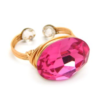 Candy Gem Ring in 14K Gold-filled: Rose Swarovski® Crystal