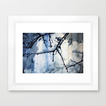 Snow and water Framed Art Print by VanessaGF | Society6