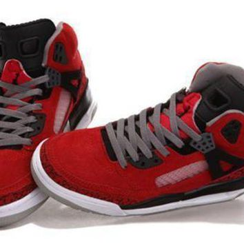 Hot Air Jordan 3.5 Spizike Suede Women Shoes Gym Red