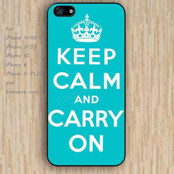 iPhone 6 case keep calm carry on lighting blue iphone case,ipod case,samsung galaxy case available plastic rubber case waterproof B128