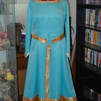 Pincess Merida Scottish Adult Costume