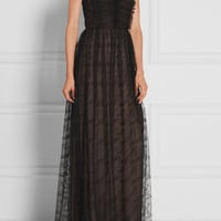 Jason Wu - Ruched lace maxi dress