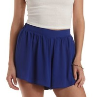 Bright Cobalt Full High-Waisted Shorts by Charlotte Russe