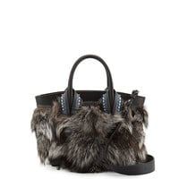 Christian Louboutin Eloise Small Fox Fur Tote Bag
