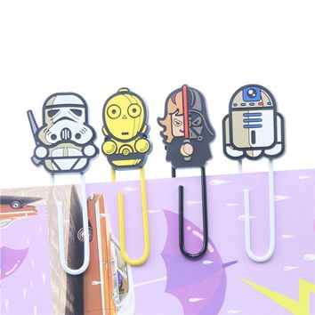 Novelty Star Wars Paper Clip Bookmark Promotional Gift Stationery School Office Supply Escolar Papelaria